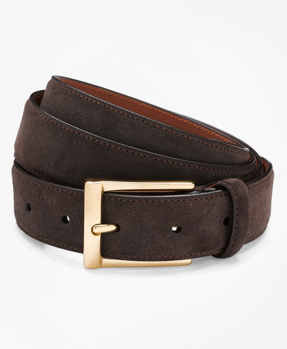 Suede Dress Belt Chocolate