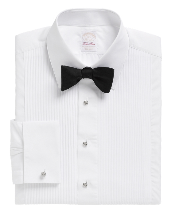 Golden Fleece® Madison Fit Swiss Pleat Tennis Collar French Cuff Tuxedo Shirt