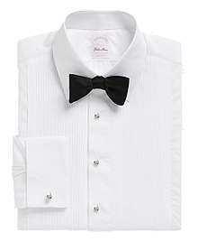 Golden Fleece® Madison Fit Swiss Pleat Tennis Collar French Cuff Tuxedo Shirt