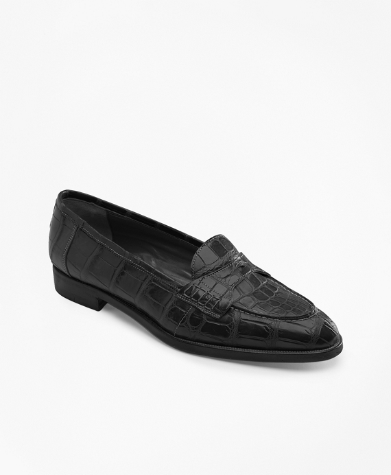 Alligator Loafers Black