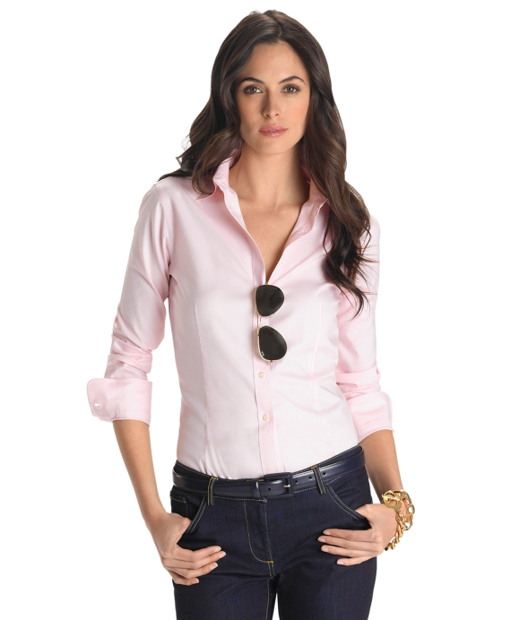 Non-Iron Tailored Fit Dress Shirt Pink