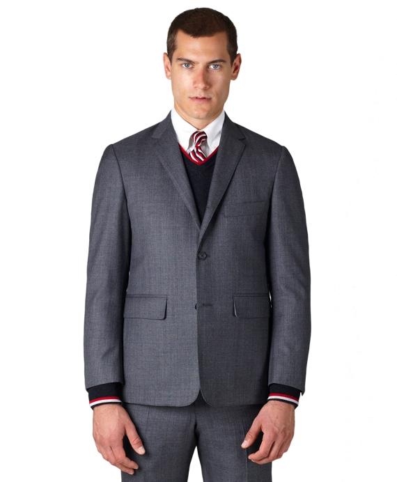 Melange Wool Classic Suit Grey
