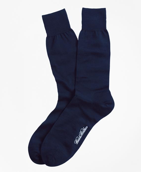 Merino Wool Jersey Crew Socks Navy