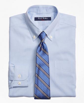 Non-Iron Supima® Pinpoint Cotton Houndstooth Dress Shirt
