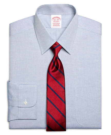 Traditional Relaxed-Fit Dress Shirt, Forward Point Collar