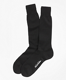 Egyptian Cotton Jersey Knit Crew Socks