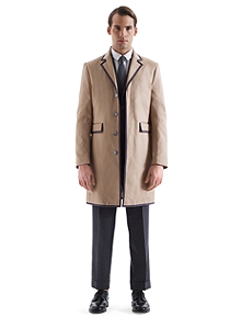 Inverted Back Chesterfield Coat