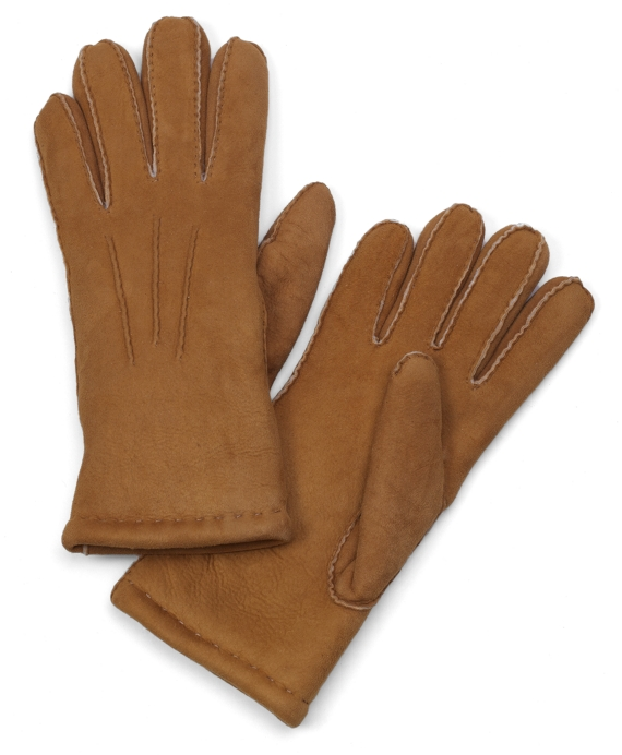 Shearling Gloves British Tan