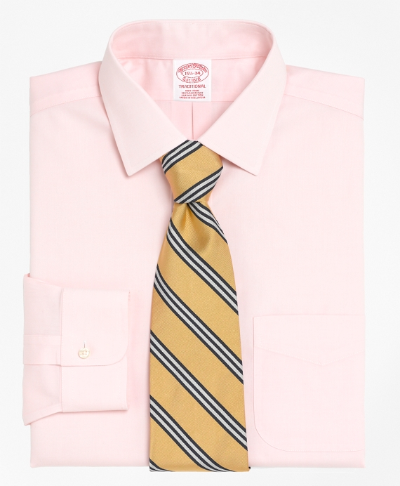 Non-Iron Traditional Fit Spread Collar Dress Shirt Pink