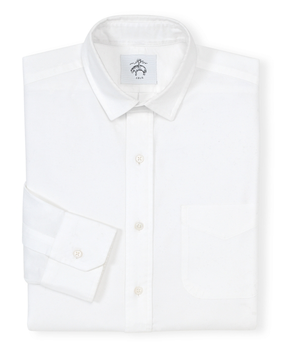 Black Fleece Narrow Collar Shirt White