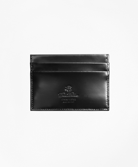 French Calfskin Slim Card Case Black