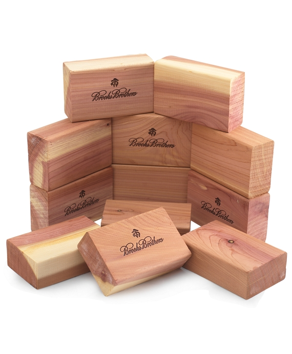 Cedar Thick Blocks Box of 12 Natural