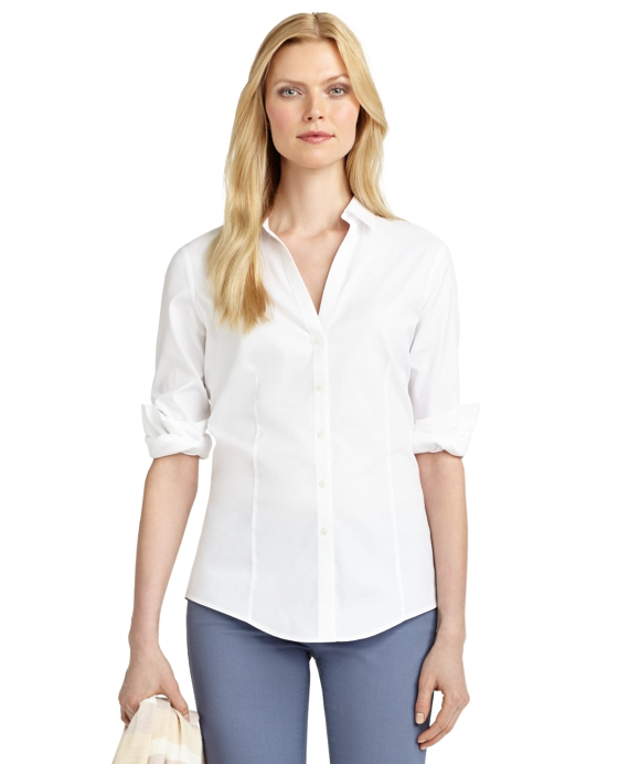 Petite Non-Iron Fitted Blouse White