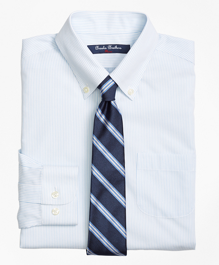 Non-Iron Supima® Cotton Broadcloth Mini Stripe Dress Shirt