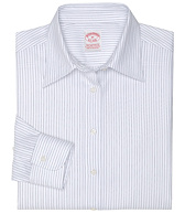 Petite Non-Iron Classic Fit Fine Textured Stripe Dress Shirt with DOW XLA&#0153
