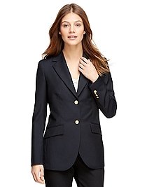 Petite Two-Button Classic Navy Blazer