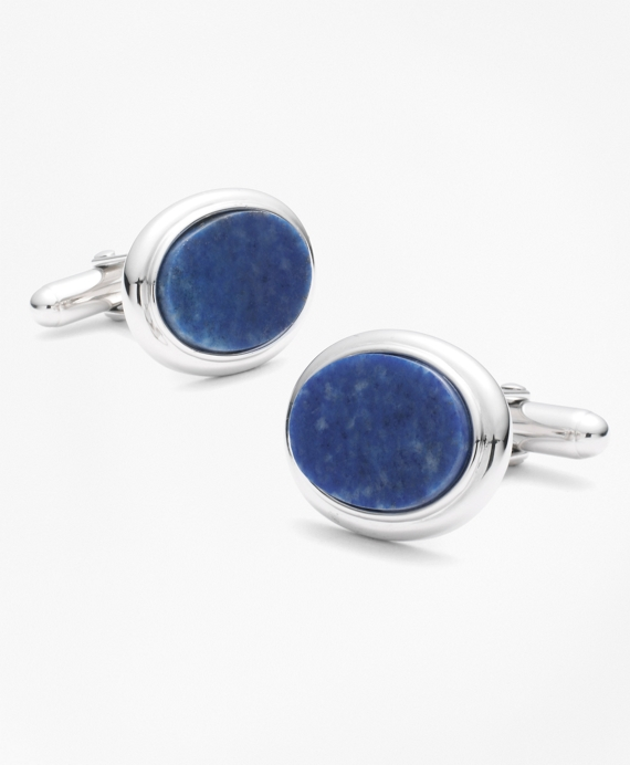 Oval Sodalite Cuff Links Silver