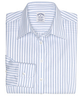 Petite Non-Iron Fitted Frame Stripe Dress Shirt with DOW XLA&#0153