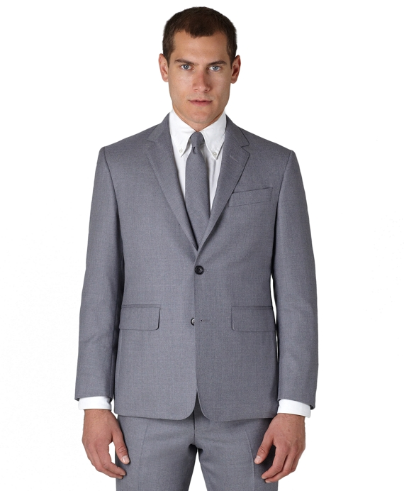 Wool Twill Classic Jacket Light Grey