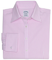 Petite Non-Iron Fitted Club Stripe Dress Shirt with French Cuffs with DOW XLA&#0153