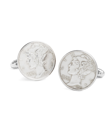 Vintage Mercury Dime Cuff Links