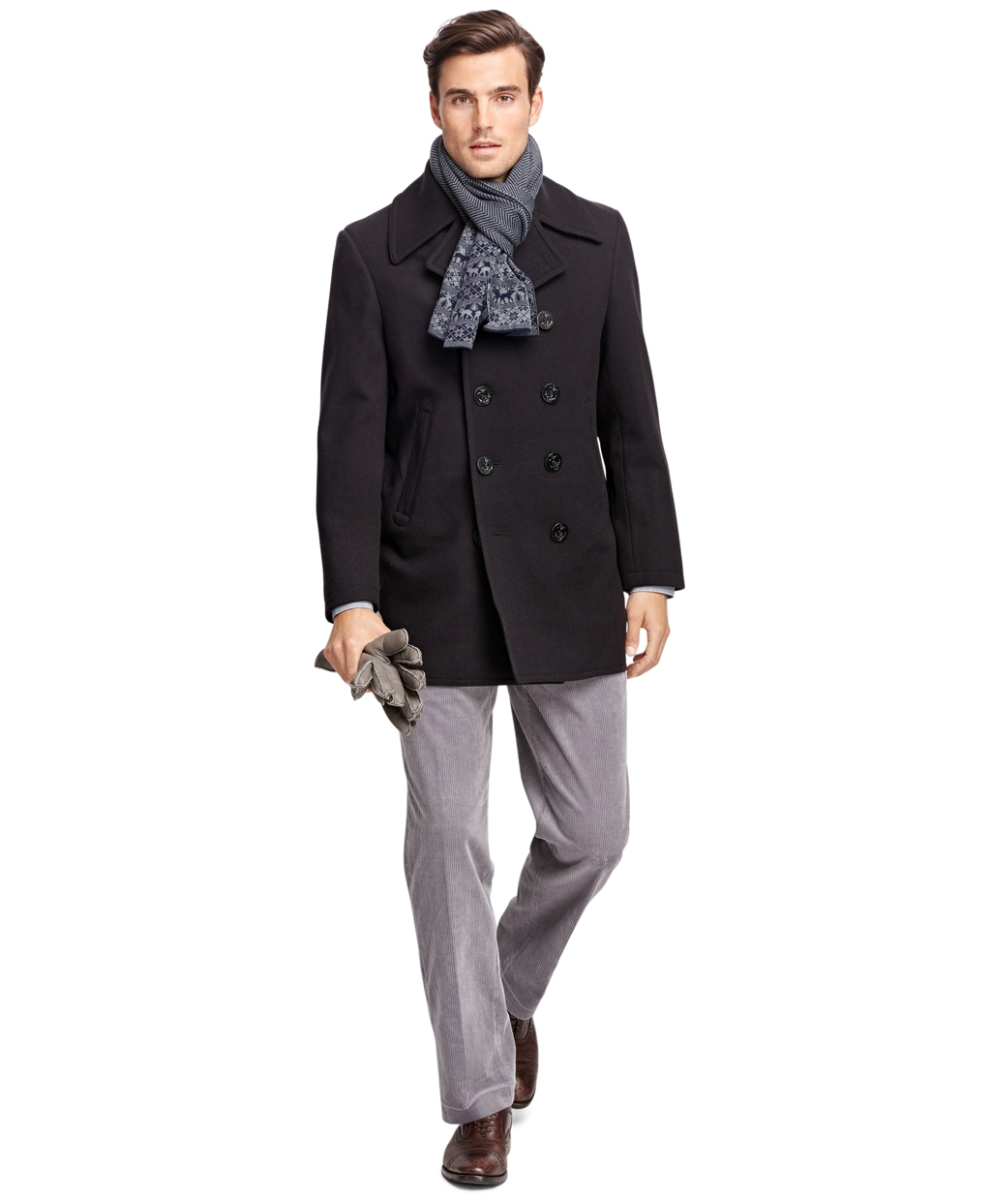 Men's Classic Pea Coat | Brooks Brothers