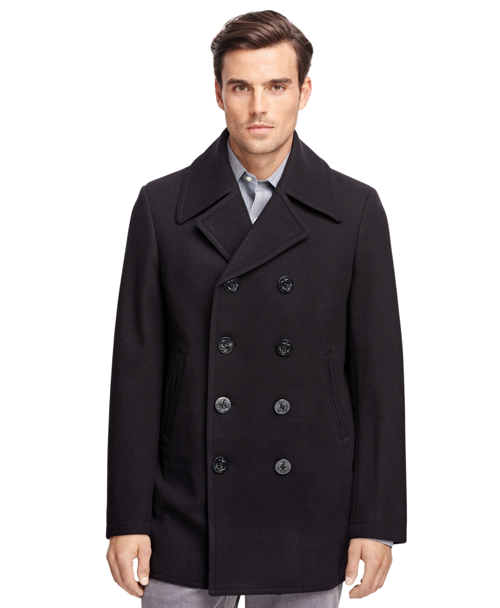 Men&39s Classic Pea Coat | Brooks Brothers
