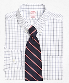 Non-Iron Traditional Fit Windowpane Dress Shirt