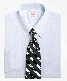 Non-Iron Traditional Fit Mini Pinstripe Dress Shirt