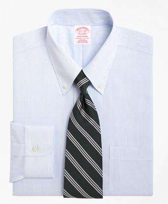 Non-Iron Traditional Fit Mini Pinstripe Dress Shirt