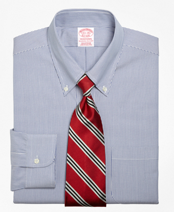 Traditional Fit Stripe Dress Shirt