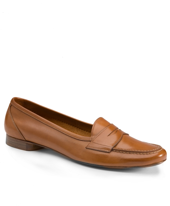 Stitched Loafers Cognac