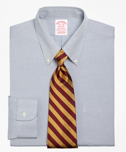 Traditional Relaxed-Fit Dress Shirt, Button-Down Collar