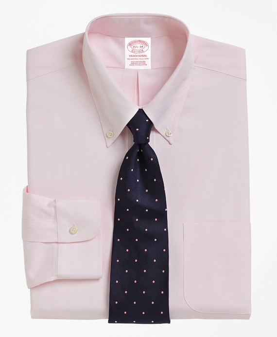 Traditional Fit Button-Down Collar Dress Shirt Pink