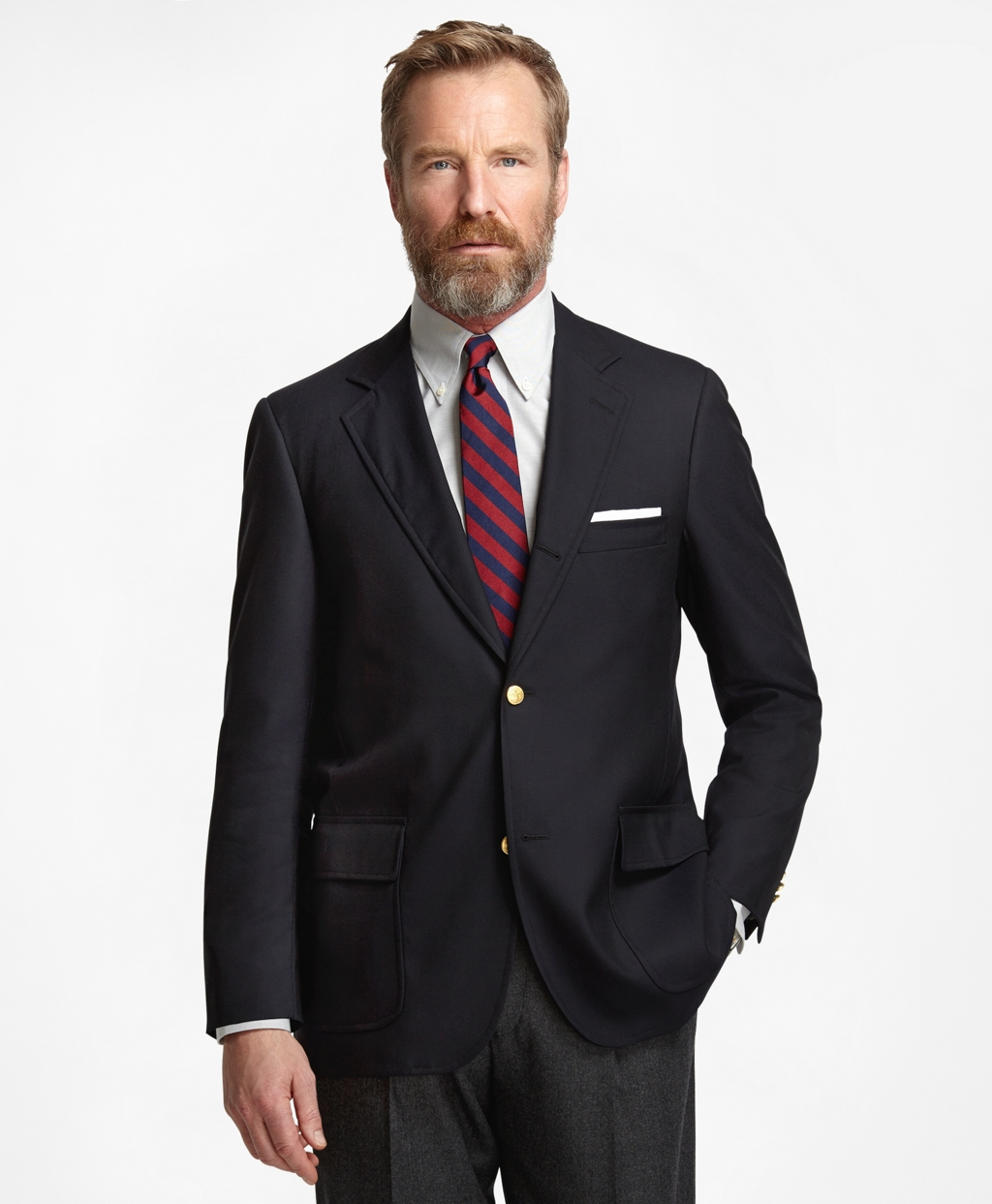 Men's Three-Button Sack 1818 Navy Blazer | Brooks Brothers