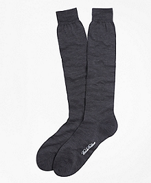 Merino Wool Mini Dot Over-the-Calf Socks