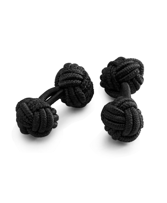 Knot Cuff Links Black