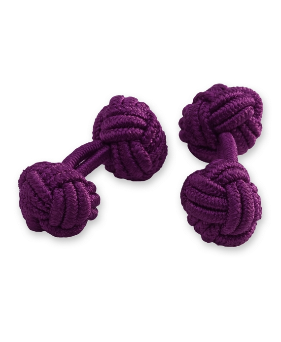 Knot Cuff Links Bright Purple