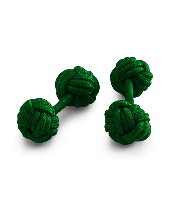 Knot Cuff Links Club Green