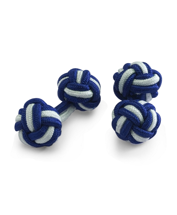 Knot Cuff Links Cobalt-Sky Blue