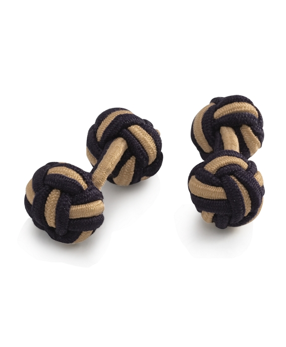Knot Cuff Links Navy-Khaki