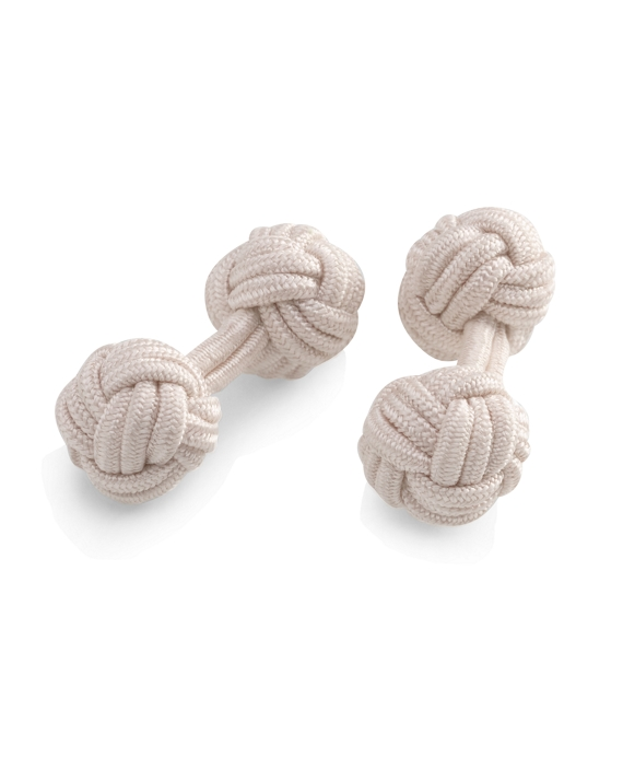 Knot Cuff Links Off White