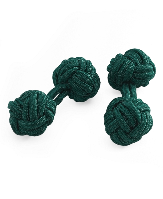 Knot Cuff Links Spruce Green