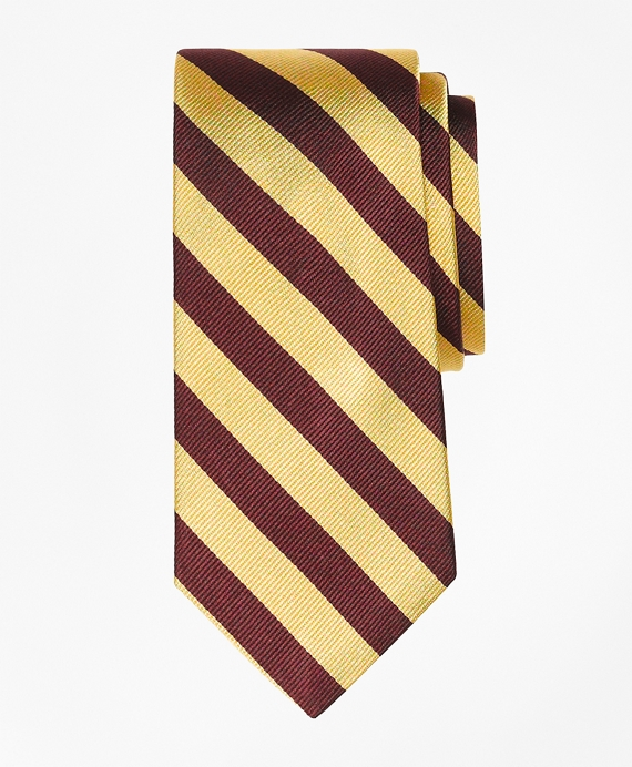 Guard Stripe Tie Burgundy-Gold