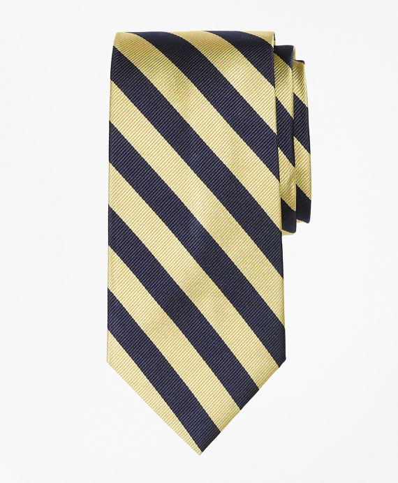 Guard Stripe Tie Gold-Navy