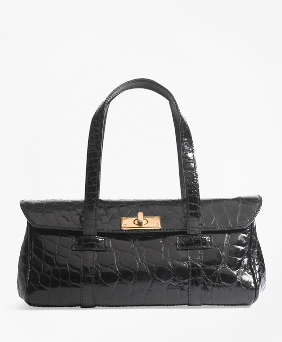 Alligator Mini Satchel Black