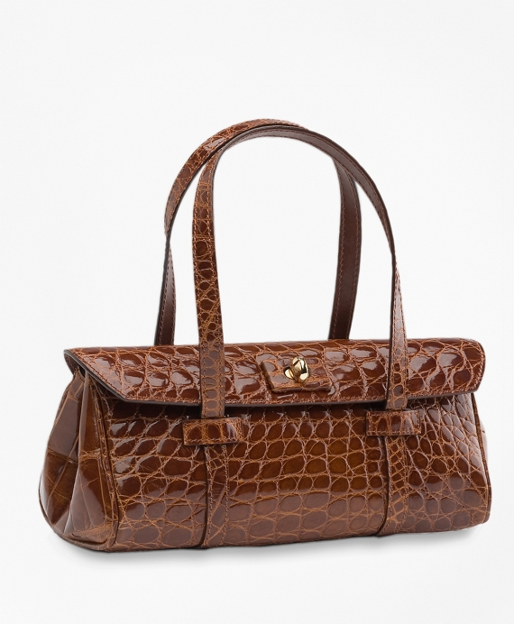 Alligator Mini Satchel Cognac