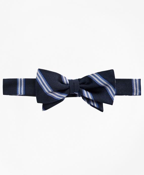 BB# 1 Stripe Pre-Tied Bow Tie Navy