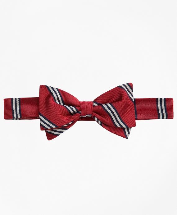 BB# 1 Stripe Pre-Tied Bow Tie Red