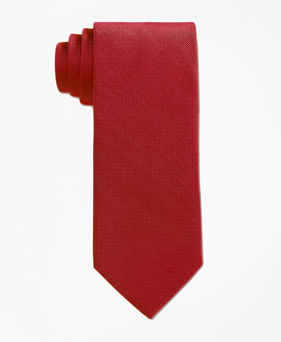 Solid Silk Tie Red